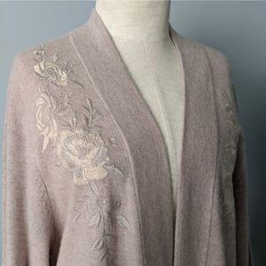 Johnny Was Cardigan Kimono Cashmere Embroidered M